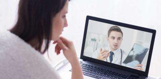 Was Gesundheit Telefon-oder Online-Beratung mit Telemedizin-Dienste